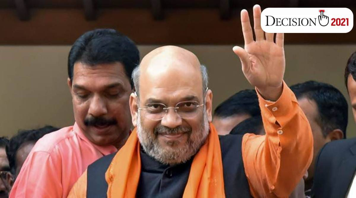 amit shah, Mamata Banerjee, election, West Bengal Assembly Elections 2021, Rahul Gandhi, Congress news, west bengal news, indian express