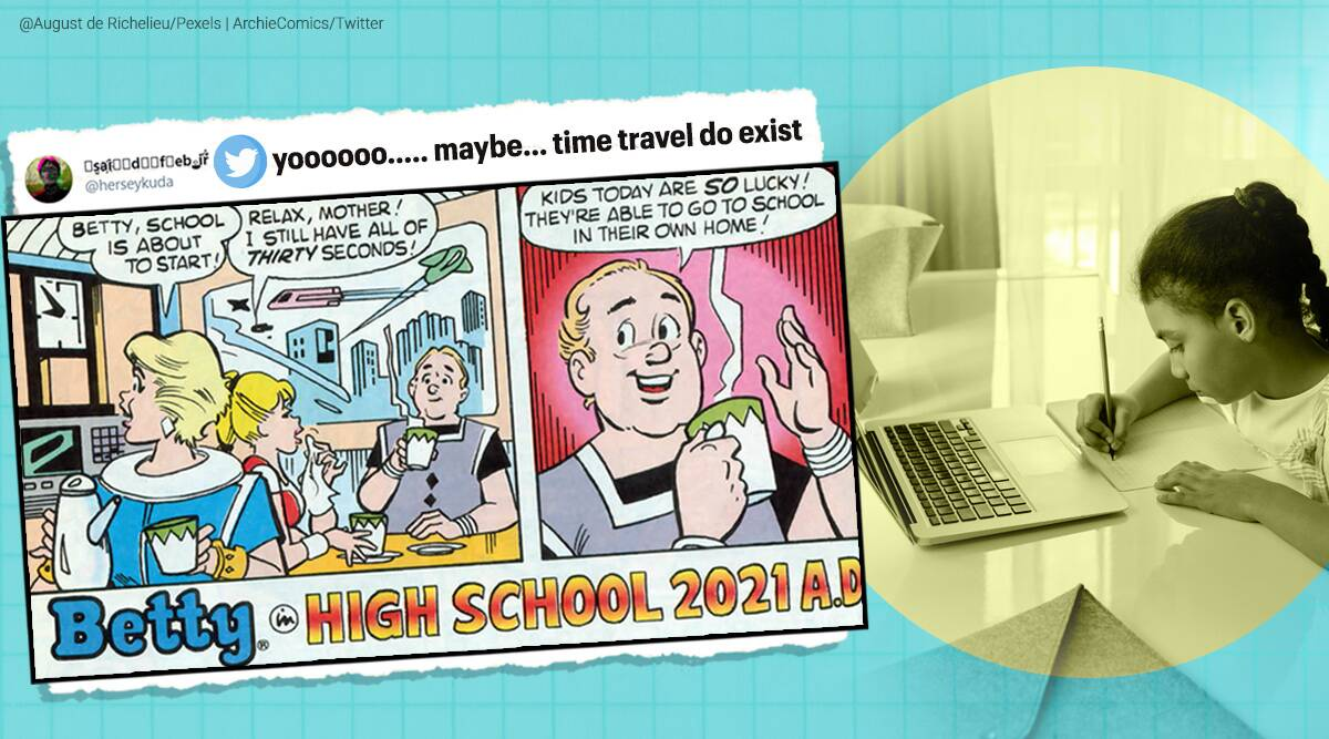 archie comics, archie comics online classes, archie comics remote learning prophecy, comics predictions from future, viral news, indian express