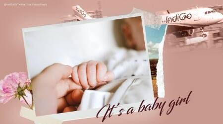 baby on flight, baby born mid air, baby born in flight, indigo flight baby born, jaipur bangalore flight baby arrival, odd news, indian express,