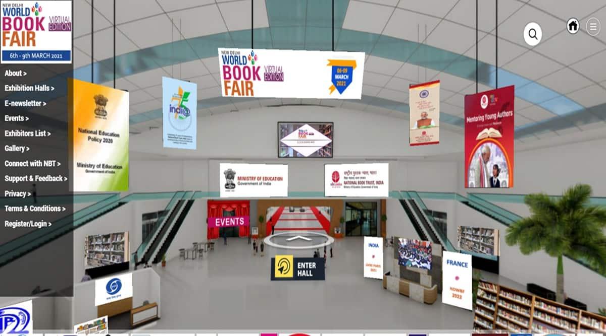 Book fair, virtual book fair, world book fair, delhi book fair 2021, NBT book fair, indianexpress.com, indianexpress, how to participate in a virtual book fair, book fair delhi 2021, pandemic book fair
