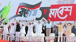 Play down brigade rally Left-Cong team communal due to ISF's entry, say BJP & TMC