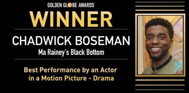 Chadwick Boseman, Chadwick Boseman golden globes 2021, golden globes
