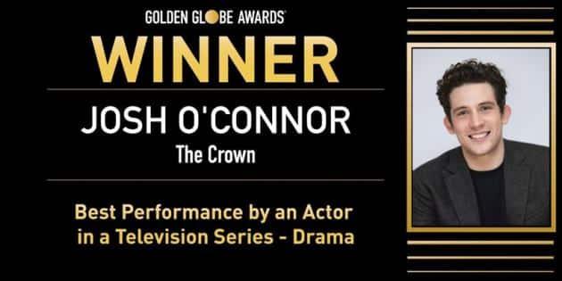 Josh O'Connor, the crown, golden globes golden globes 2021