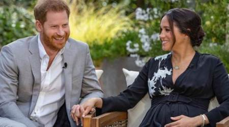 Harry and Meghan interview with Oprah, Prince Harry and Meghan Markle interview, Harry and Meghan chairs, Harry and Meghan patio chairs, indian express news