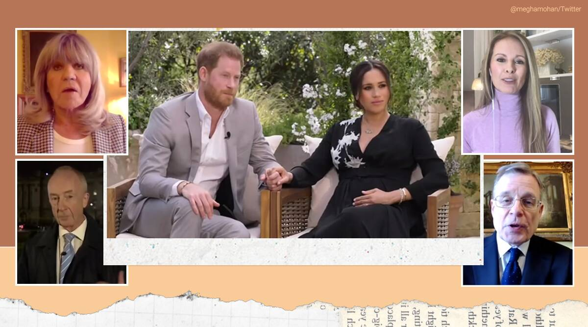 Prince Harry and Meghan Markle, Harry and Meghan interview with Oprah, Harry and Meghan equation with royal family, Harry and Meghan news, indian express news