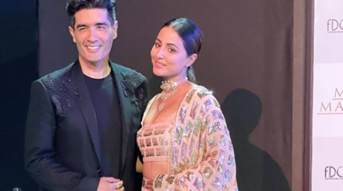 hina khan, manish malhotra, hina khan in manish malhotra, lakme fashion week 2021, lakme fashion week 2021 news, indianexpress.com, indianexpress,