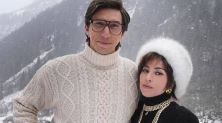 Lady Gaga and Adam Driver house of gucci first look