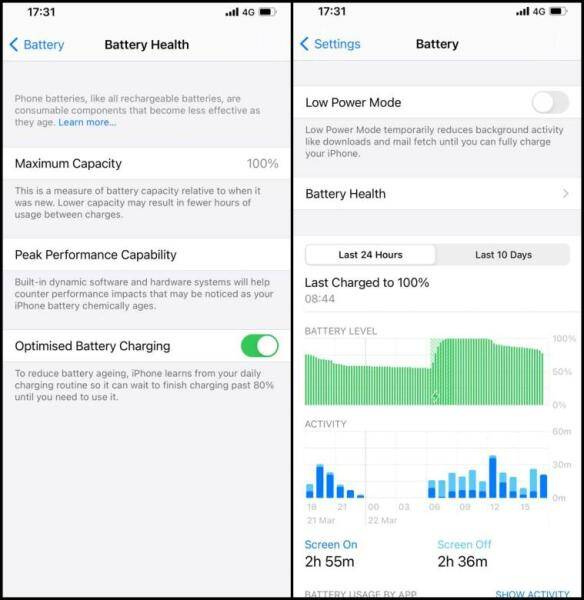 iPhone Battery, iPhone battery health,