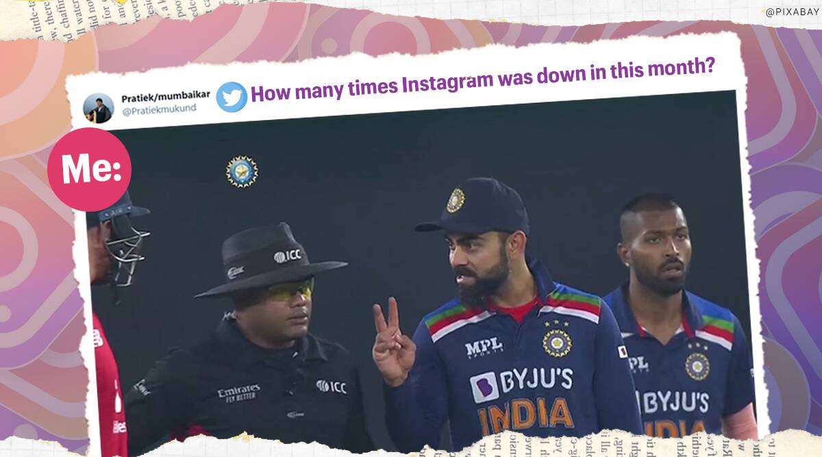 Instagram down, Instagram global outage, Twitter reactions, memes, Instagram global outage memes, Instagram down memes, Instagram down twitter reaction, Instagram down jokes, Instagram down trending, Trending news, Indian Express news.