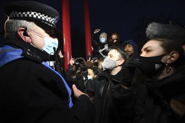 Londoners protest after police officer charged with woman's murder sarah everard