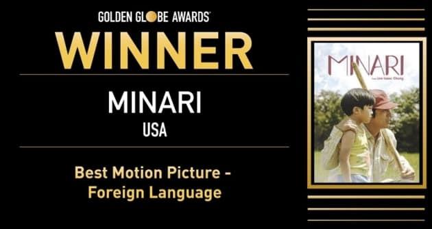 Minari , golden globes, golden globes 2021