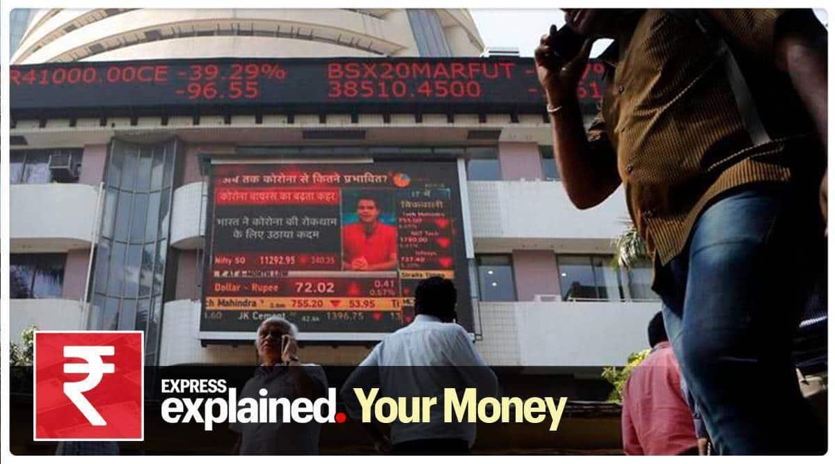 Sensex, Sensex Bombay Stock Exchange, Bombay Stock Exchange, India Sensex, bse sensex coronavirus, covid 19 foreign portfolio investors, indian stock market today, Indian express