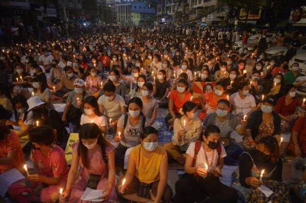 Anti coup protests Myanmar