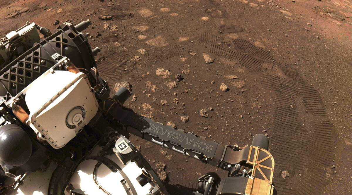 NASA's Perseverance rover performs first test drive on Mars thumbnail