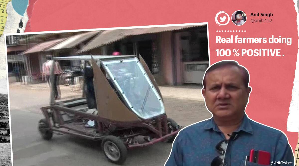 Odisha farmer, Odisha farmer solar powered car, Odisha farmer self made electric car, innovation, electric car, self made electric car, Trending news, Indian express news