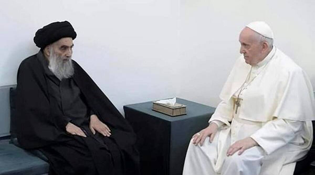 Pope Francis holds historic meeting with Iraq's top Shi'ite cleric - The Indian Express