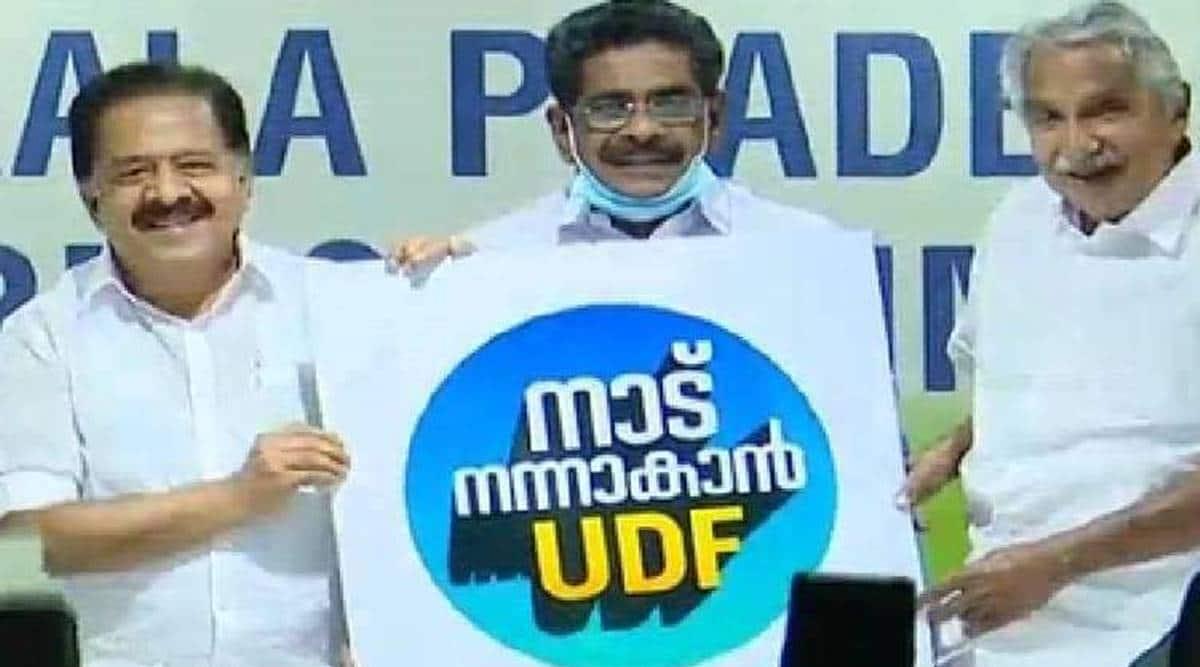 UDF campaign slogan, kerala assembly polls, ramesh Chennithala, LDF slogan, kerala elections, indian express
