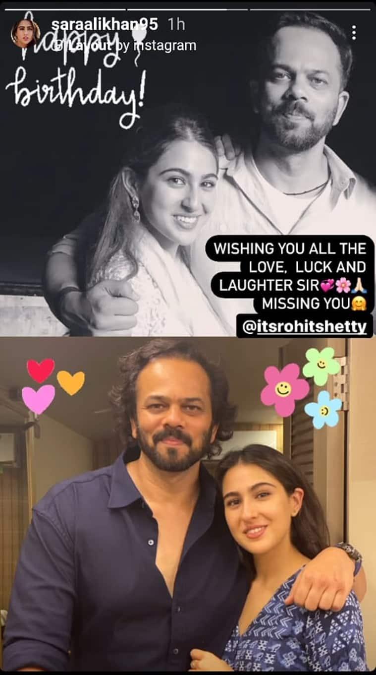 rohit shetty birthday sara ali khan