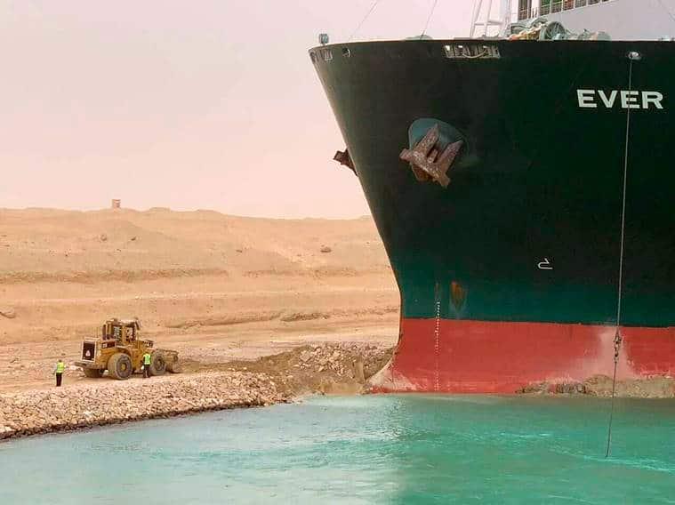 Suez Canal blocked, cargo ship stuck Suez Canal , ever green suez canal, express explained