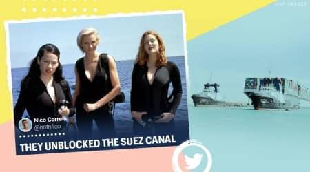 suez canal, suez unblocked, ever given freed, suez canal boat freed, suez canal traffic resume, suez canal unblock memes, put it back suez canal, suez canal freed memes, suez canal ship memes, indian express