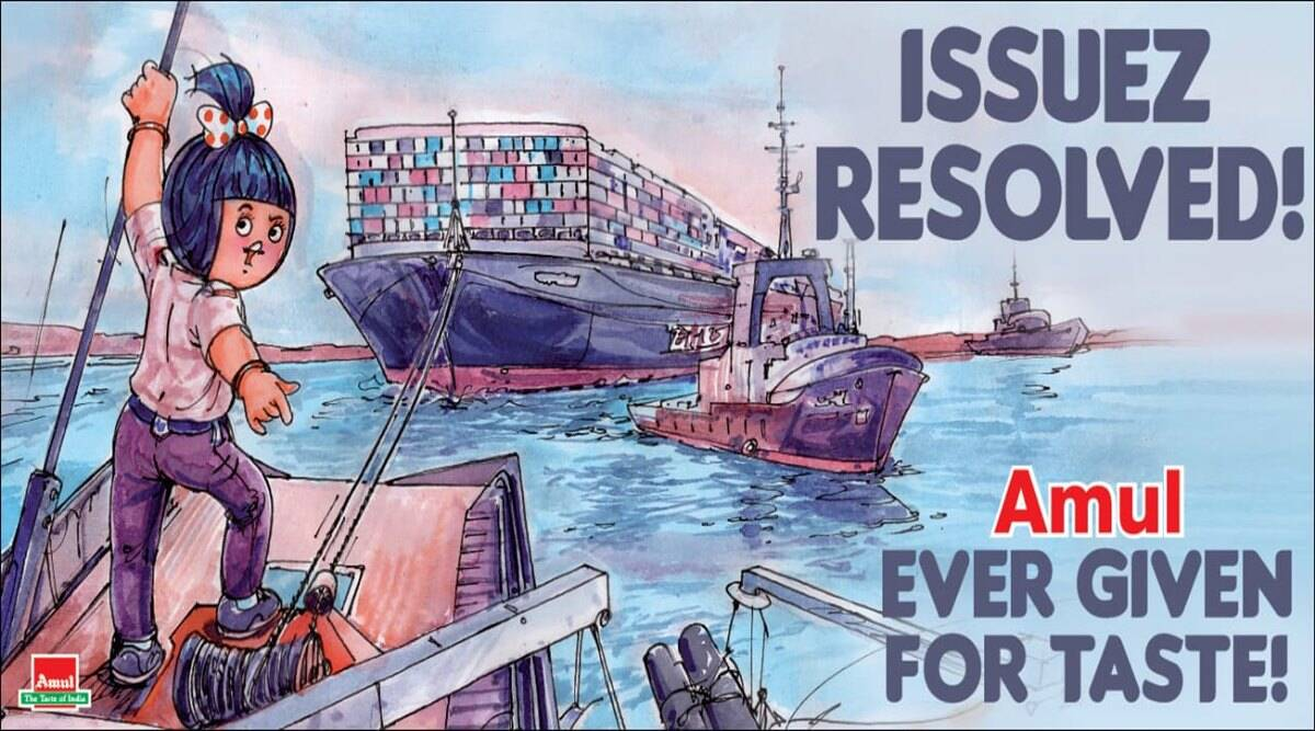 'Issuez Resolved': Amul celebrates as Ever Given was freed in Suez Canal