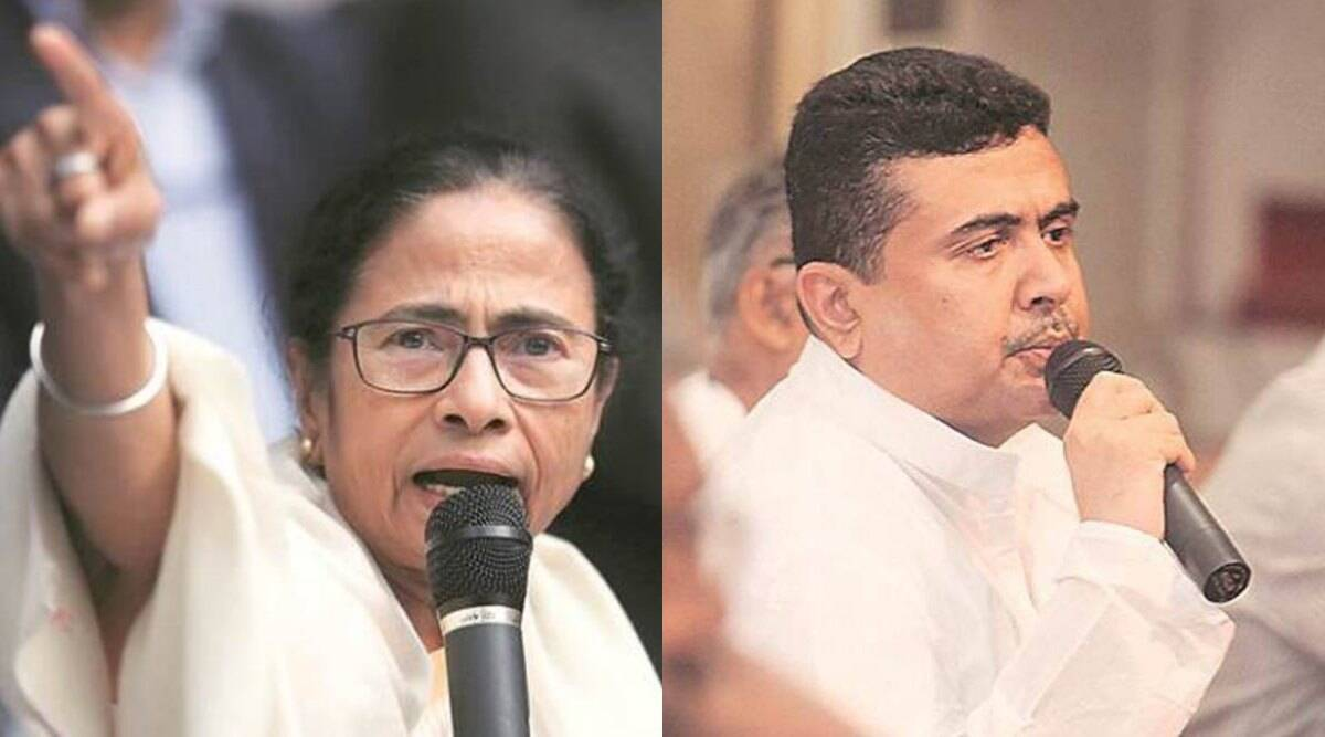 Stage set for high-voltage contest between Mamata Banerjee and her former lieutenant Suvendu Adhikari