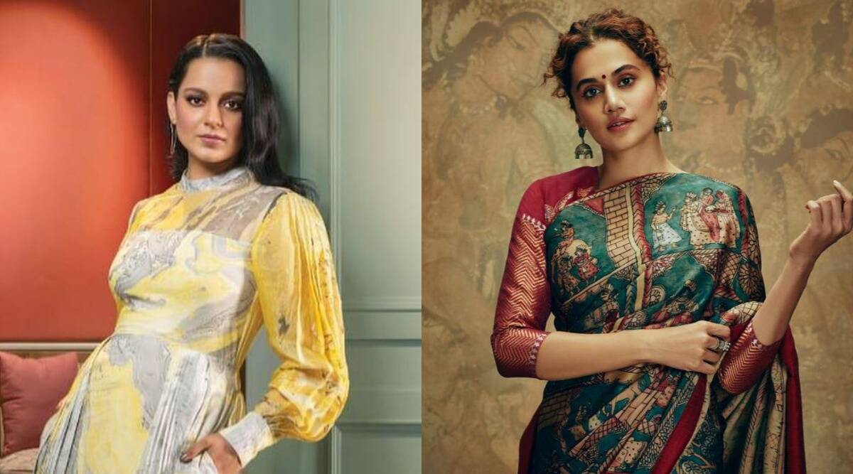 Kangana Ranaut hits back at Taapsee Pannu after her tweets on IT raids: 'You will always be sasti' - The Indian Express
