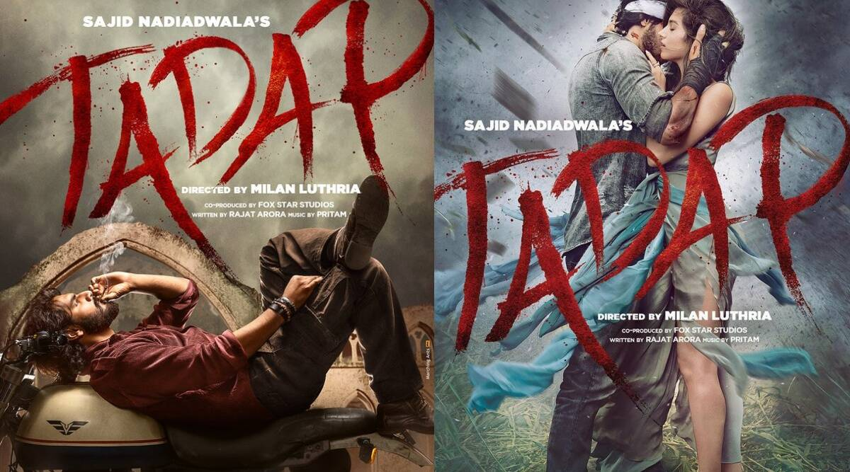 Tadap: Akshay Kumar, Ajay Devgn 'emotional' as they share posters of Suniel Shetty's son Ahan's Bollywood debut - The Indian Express