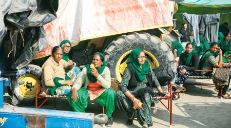 Women farmers protest, farm laws, CHandigarh news, Punjab news, Indian express news