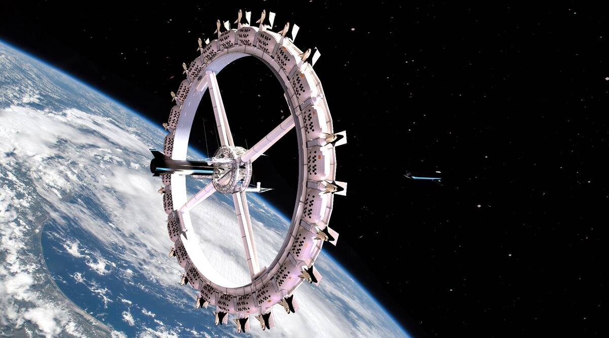 world first space hotel, voyager station, space tourism, space hotel images, space news, tourism news, indian express