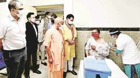 Yogi Adityanath, Anandiben Patel, Covid-19 cases, Uttar Pradesh news, Uttar Pradesh Covid-19 cases, UP coronavirus cases, india news, indian express
