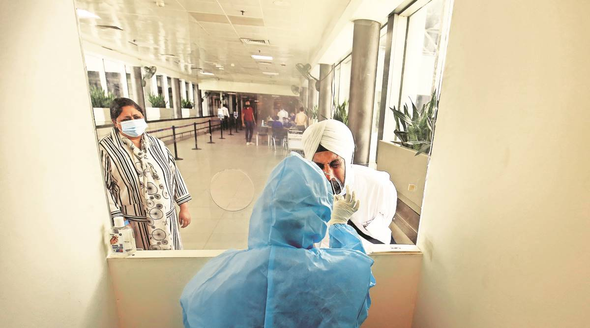 Covid surge, mandatory tests cast a shadow over air travel - The Indian Express
