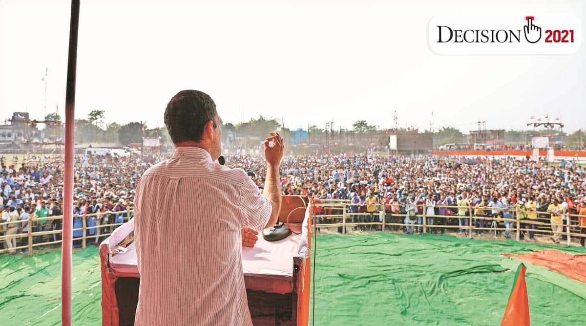 Rahul Gandhi, Amit Shah, Mamata Banerjee, TMC West Bengal, BJP West Bengal, election, Goalpokhar rally, Rahul Gandhi in West Bengal, india news, indian express
