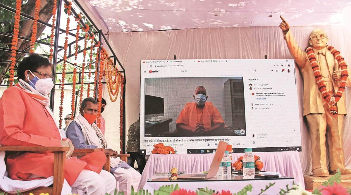 UP government, Yogi Adityanath, B R Ambedkar, uttar pradesh news, indian express