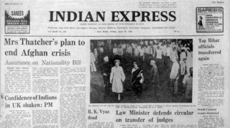 margaret thatcher, Afghan, Forty Years Ago, Judges Transfer Issue, Inflation Continues, indian express