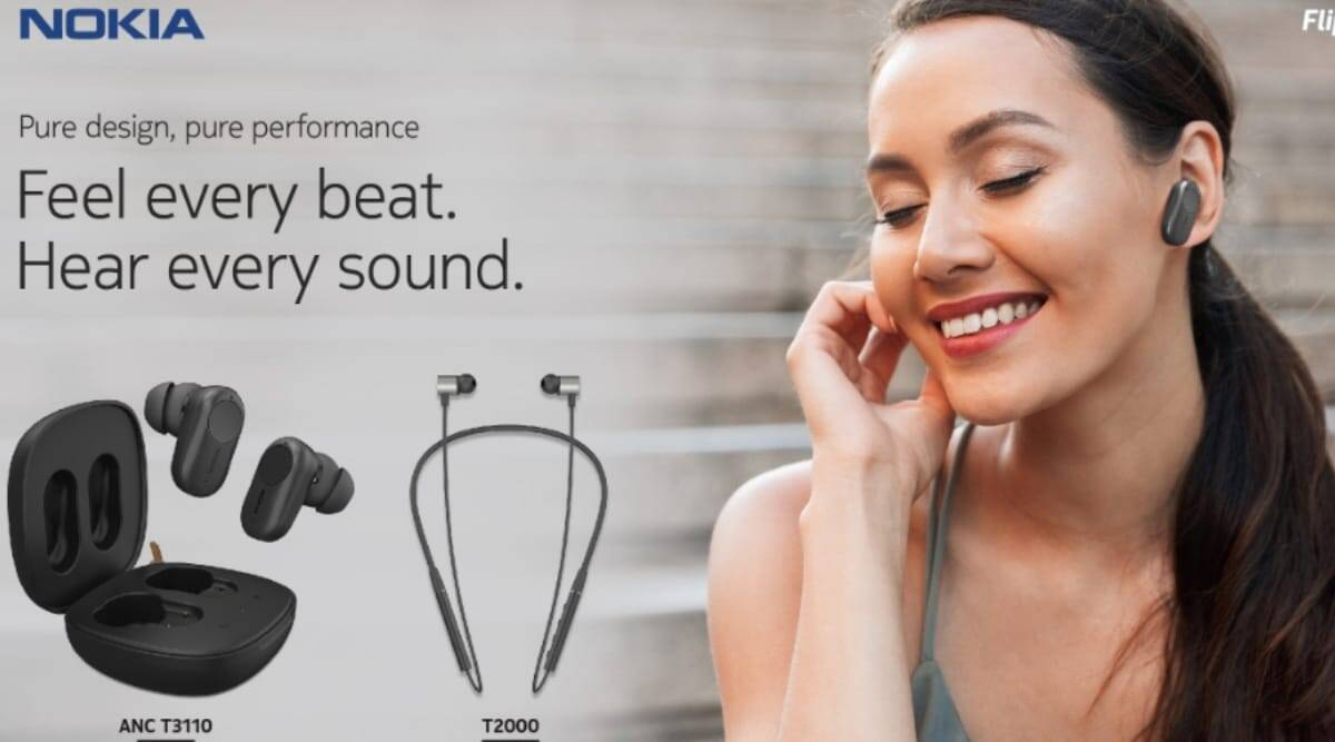 Flipkart launches Nokia Bluetooth headset T2000, TWS ANC T3110 in India:  Price, specifications | In Hindi.