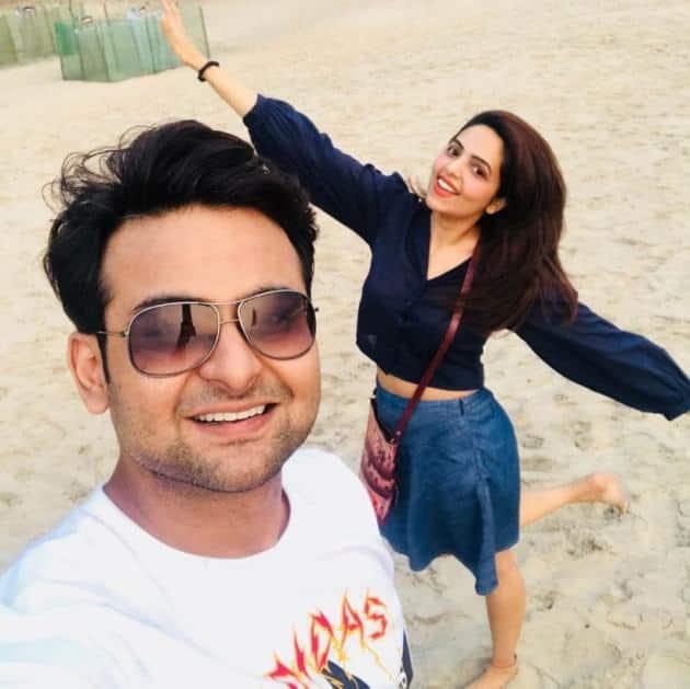 sugandha mishra sanket bhosale vacation pics