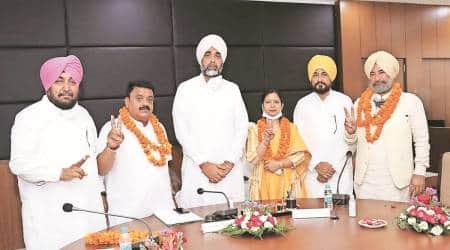 Raman Goyal, Manpreet Badal, Bathinda city, Bathinda new mayor, Punjab news, Bathinda women mayor, india news, indian express