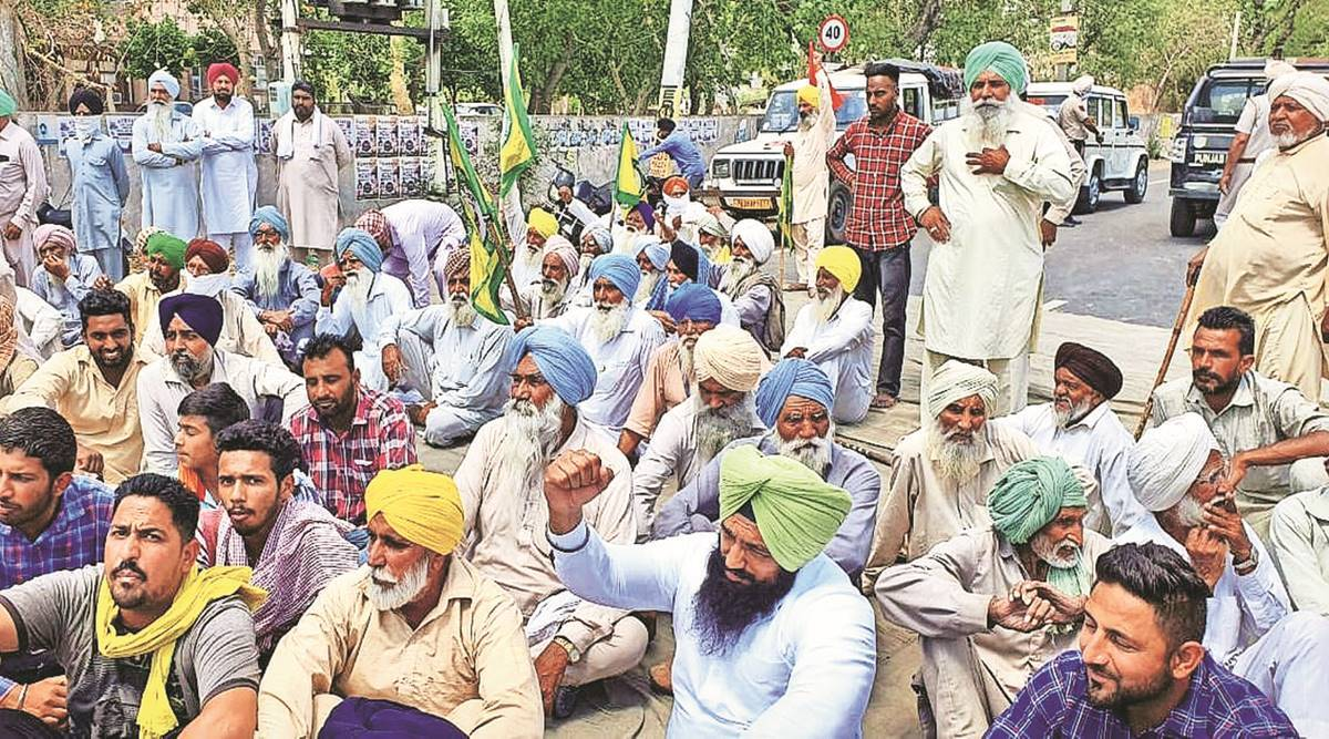 Baghapurana grain market, Punjab Congress, Moga district, Bhartiya Kisan Union, Punjab news, Farmers protest, india news, indian express