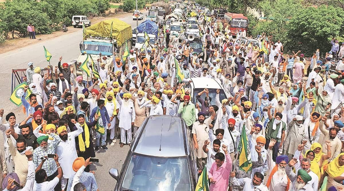 Tikri, Punjab, Farmers protests, Delhi borders from Punjab, coronavirus cases in Punjab, Punjab covid-19 cases, farmers protest in punjab, Punjab news, india news, indian express