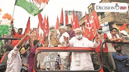 Adhir Ranjan Chowdhury, Jadavpur, West Bengal Assembly Elections 2021, West Bengal elections, CPM-Congress jot in West Bengal, india news, indian express
