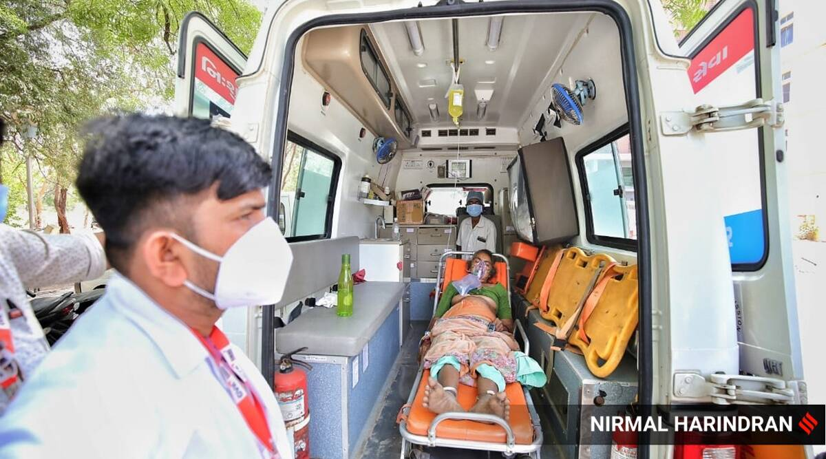 Covid-19 India second wave, coronavirus cases in gujarat, gujarat covid-19 cases, gujarat oxygen, india news, indian express