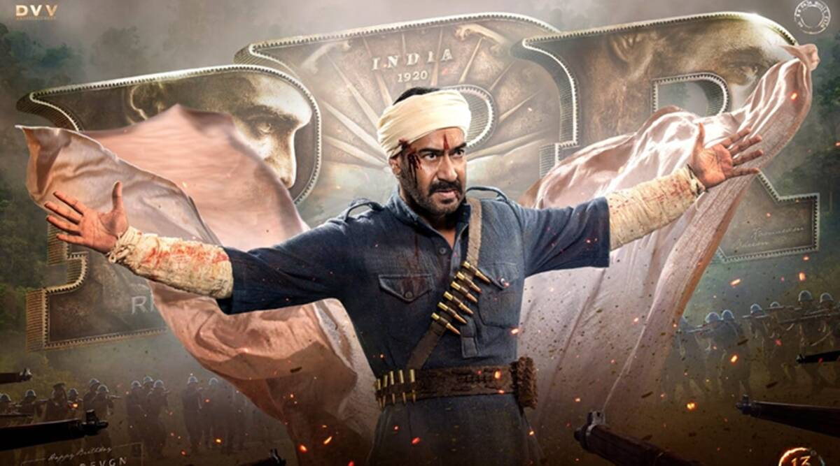 RRR: Ajay Devgn is bloodied but unbent in explosive clip on his birthday.  Watch | Entertainment News,The Indian Express
