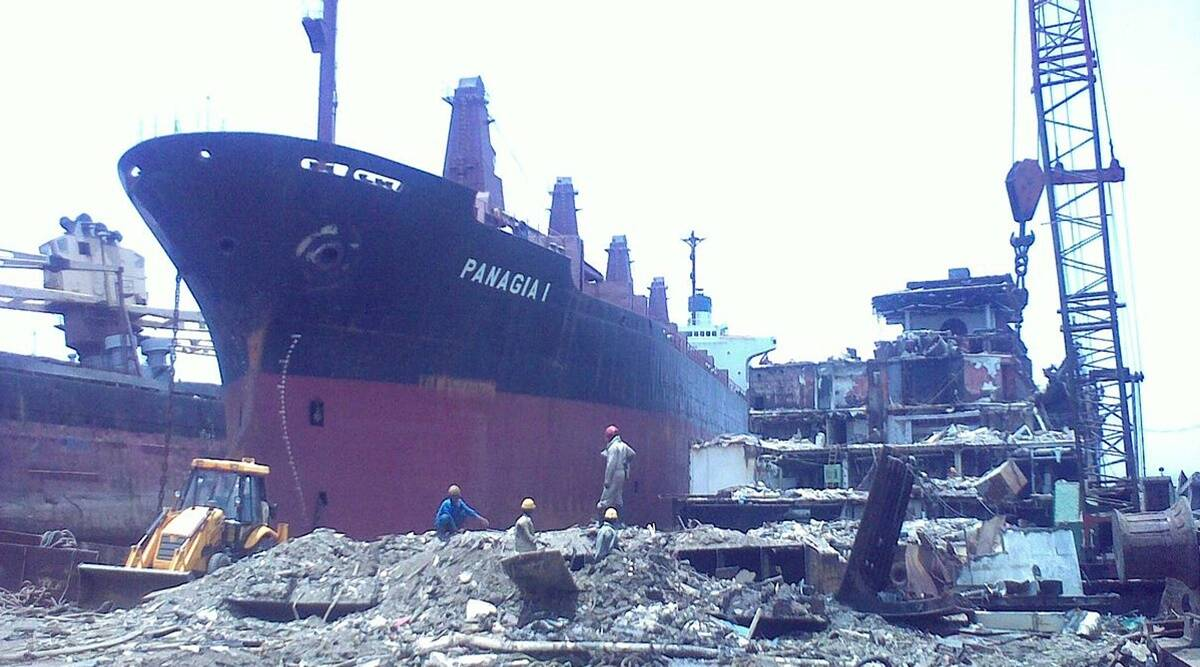 Alang ship-breaking yard