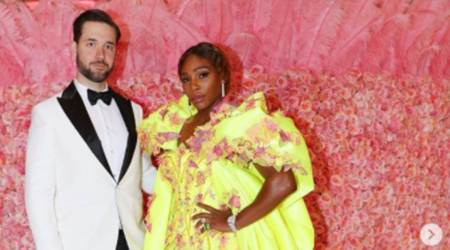 Alexis Ohanian, Alexis Ohanian news, Alexis Ohanian and Serena Williams, Alexis Ohanian family, Alexis Ohanian cheering for his wife, Alexis Ohanian daughter, indian express news