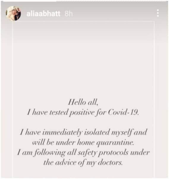 Alia Bhatt- COVDI-19