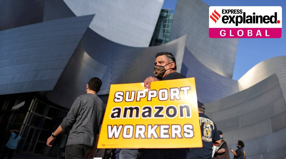 Amazon, Amazon workers union, Amazon union vote, Amazon unionization, Bessemer, Indian Express