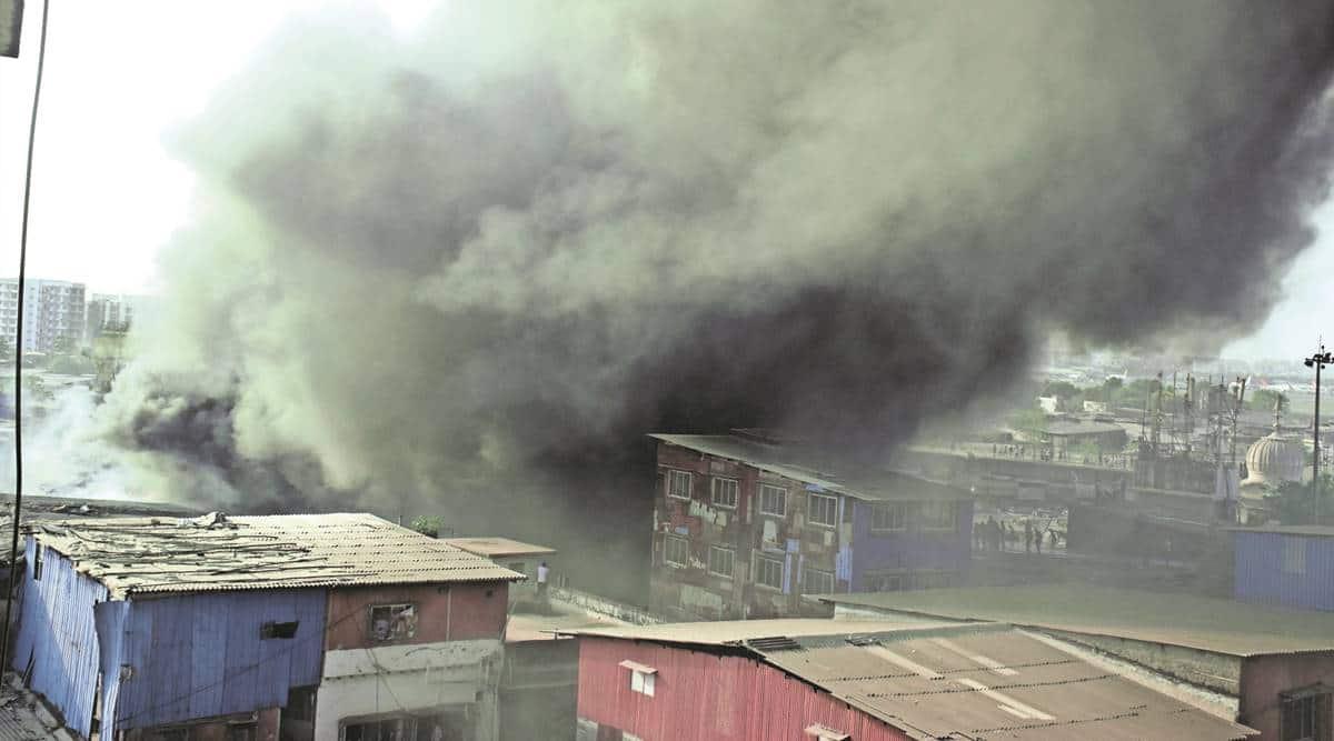 Kurla market, Kurla market fire, mumbai fire at kurla, kurla news, mumbai news, indian express