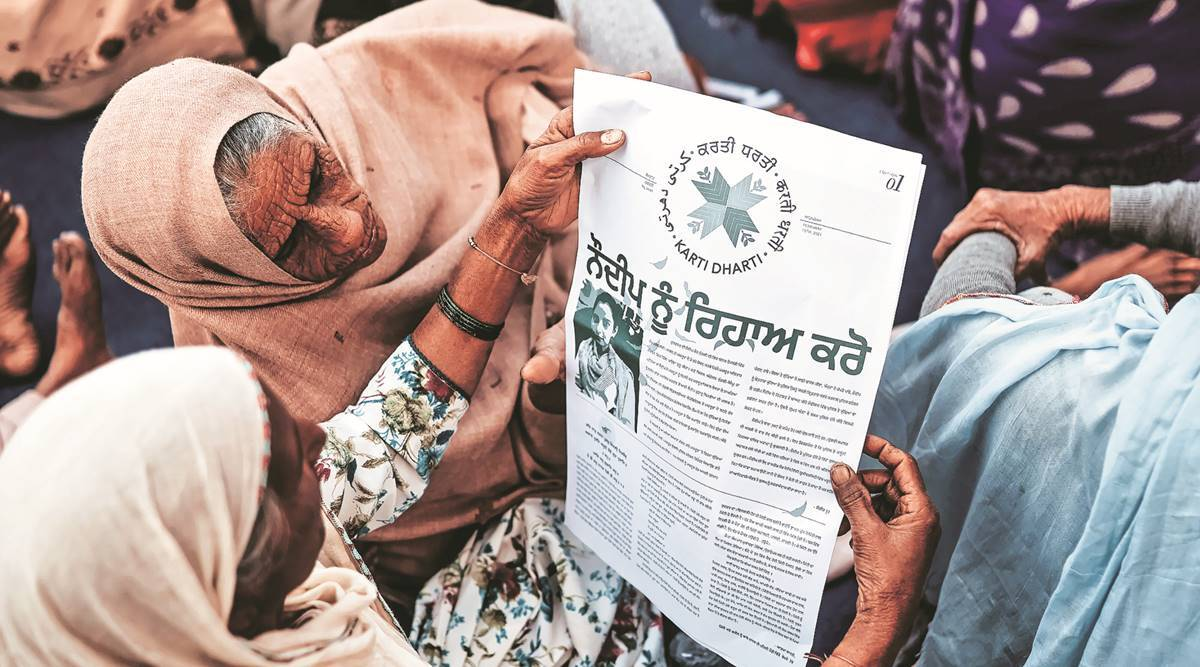 Farmers protests, women, Karti Dharti, Punjab news, Shahmukhi, farmers activist, women participation in farmers protest, india news, indian express
