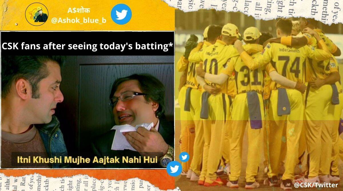 IPL, IPL 2021, CSK vs KKR, CSK vs KKR IPL 2021 match, CSK vs KKR match reactions, CSK vs KKR memes, CSK vs KKR match summary, CSK vs KKR score, IPL 2021 memes, IPL 2021 Twitter reactions, IPL 2021 live updates, Cricket news, Trending News, Sports News, Indian Express.